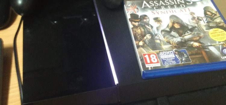 Ps4 500gb black 1yr old + controller +assassin creed syndicate contact for details