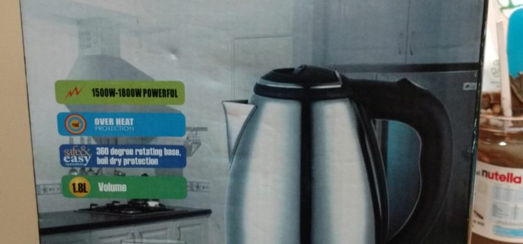 Electric Kettle (unused)(100dhs)(negotiable)