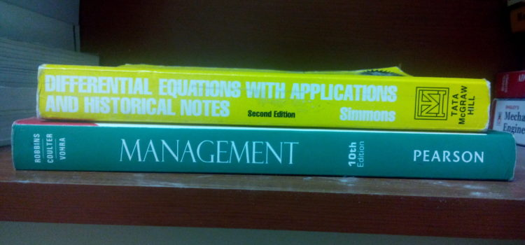 Combo Set : Management and Maths III (Differential Equations with Applications and Historical Notes) for just AED 50